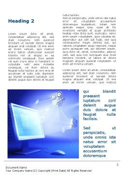 Multimedia Computer Word Template, First Inner Page, 09744, Technology, Science & Computers — PoweredTemplate.com