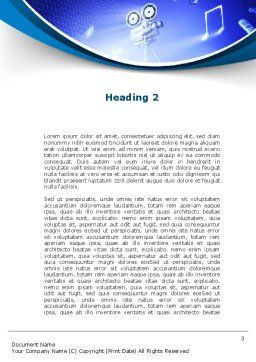 Multimedia Computer Word Template, Second Inner Page, 09744, Technology, Science & Computers — PoweredTemplate.com