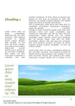 Green Fields Word Template, First Inner Page, 09745, Nature & Environment — PoweredTemplate.com
