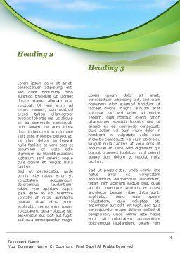 Green Fields Word Template, Second Inner Page, 09745, Nature & Environment — PoweredTemplate.com