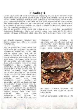 Shrimps And Crabs With Oysters Word Template, First Inner Page, 09746, Food & Beverage — PoweredTemplate.com