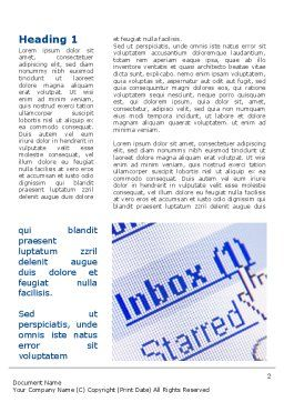E-mail Inbox Word Template First Inner Page