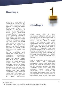 Pedestal Of Champions Word Template, Second Inner Page, 09750, Business — PoweredTemplate.com