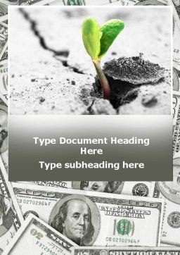 Sprout Of Money Tree Word Template, Cover Page, 09751, Financial/Accounting — PoweredTemplate.com