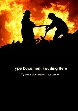 Firefighters Word Template, Cover Page, 09755, Military — PoweredTemplate.com