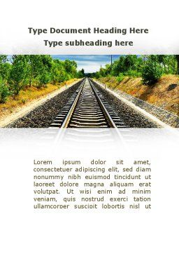 Railway To The Beautiful Land Word Template, Cover Page, 09756, Cars/Transportation — PoweredTemplate.com