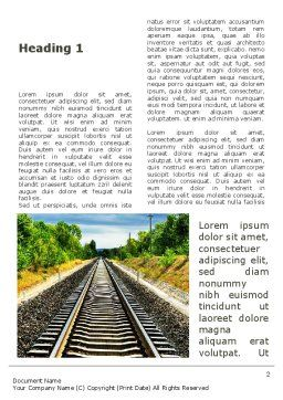 Railway To The Beautiful Land Word Template First Inner Page