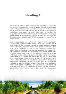 Railway To The Beautiful Land Word Template, Second Inner Page, 09756, Cars/Transportation — PoweredTemplate.com