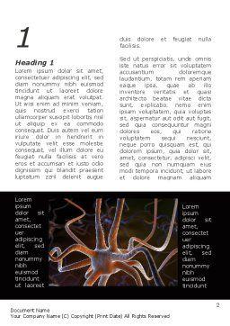 Neurocyte Word Template, First Inner Page, 09759, Medical — PoweredTemplate.com