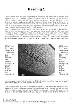 Airbag Word Template, First Inner Page, 09760, Cars/Transportation — PoweredTemplate.com