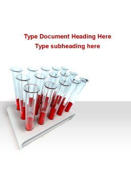 Blood Test Samples Word Template, Cover Page, 09762, Medical — PoweredTemplate.com