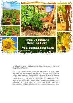 Farm Labor Word Template, Cover Page, 09763, Agriculture and Animals — PoweredTemplate.com