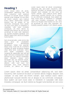 Abstract Blue With Globe Word Template, First Inner Page, 09765, Global — PoweredTemplate.com