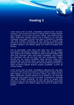 Abstract Blue With Globe Word Template, Second Inner Page, 09765, Global — PoweredTemplate.com