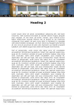 Corporate Conference Hall Word Template, Second Inner Page, 09766, Business — PoweredTemplate.com