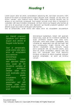 Shiny Green Leaf Word Template, First Inner Page, 09768, Nature & Environment — PoweredTemplate.com
