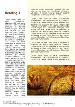 Ancient Map With Compass Word Template, First Inner Page, 09769, America — PoweredTemplate.com