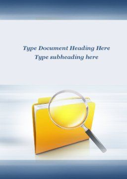 Searching Documents Word Template, Cover Page, 09771, Consulting — PoweredTemplate.com
