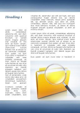Searching Documents Word Template, First Inner Page, 09771, Consulting — PoweredTemplate.com