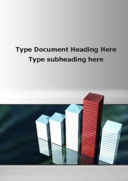 Bar Chart Word Template, Cover Page, 09775, Business Concepts — PoweredTemplate.com