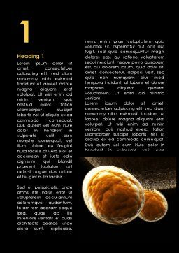 Virus Attack Under Electron Microscope Word Template, First Inner Page, 09778, Medical — PoweredTemplate.com