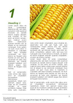 Ear Of Corn Word Template, First Inner Page, 09782, Agriculture and Animals — PoweredTemplate.com