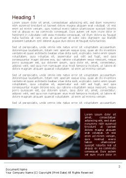 Credit Card On the Keyboard Word Template First Inner Page