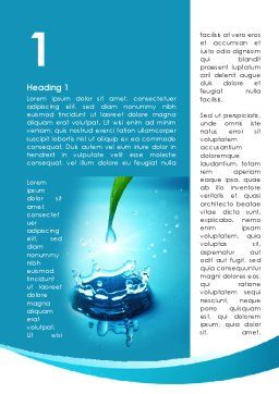 Dew Drops Falling With Splash Word Template First Inner Page