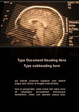 Brain Tomography Slice Word Template, Cover Page, 09785, Medical — PoweredTemplate.com