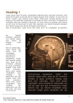 Brain Tomography Slice Word Template, First Inner Page, 09785, Medical — PoweredTemplate.com