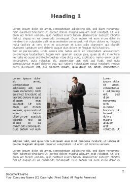 Man On Platform Word Template, First Inner Page, 09786, Cars/Transportation — PoweredTemplate.com