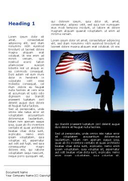 Flag of the USA Word Template, First Inner Page, 09787, Flags/International — PoweredTemplate.com