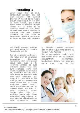 Children's Health Center Word Template, First Inner Page, 09789, Medical — PoweredTemplate.com