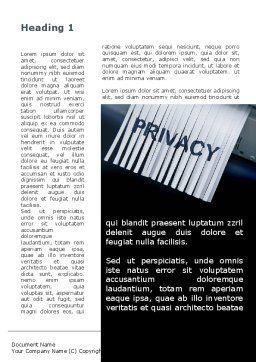 Shredder Word Template, First Inner Page, 09791, Legal — PoweredTemplate.com