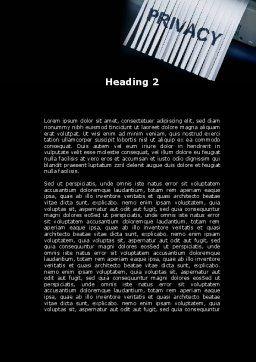 Shredder Word Template, Second Inner Page, 09791, Legal — PoweredTemplate.com