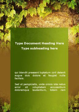 Wall Overgrown With Vines Word Template, Cover Page, 09792, Nature & Environment — PoweredTemplate.com