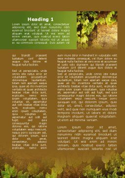 Wall Overgrown With Vines Word Template First Inner Page