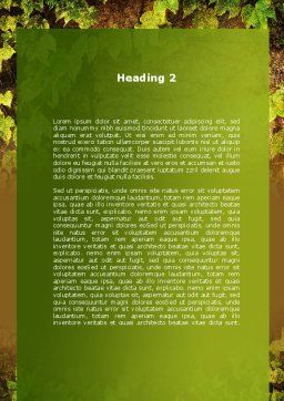 Wall Overgrown With Vines Word Template, Second Inner Page, 09792, Nature & Environment — PoweredTemplate.com