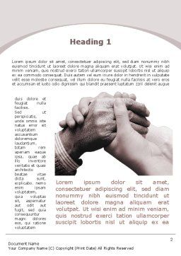 Caring For Aging Word Template First Inner Page