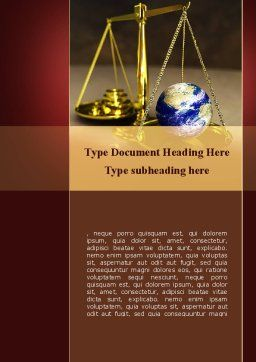 Earth For Sale Word Template, Cover Page, 09795, Legal — PoweredTemplate.com