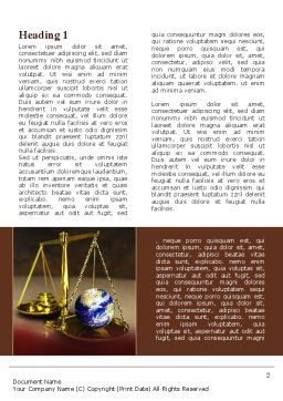Earth For Sale Word Template, First Inner Page, 09795, Legal — PoweredTemplate.com
