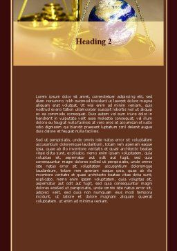Earth For Sale Word Template, Second Inner Page, 09795, Legal — PoweredTemplate.com