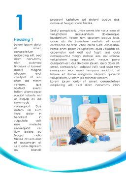 Baby Playing Home Word Template, First Inner Page, 09796, People — PoweredTemplate.com