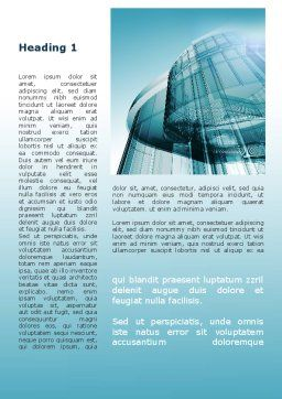 Modern Architecture Structures Word Template, First Inner Page, 09799, Construction — PoweredTemplate.com