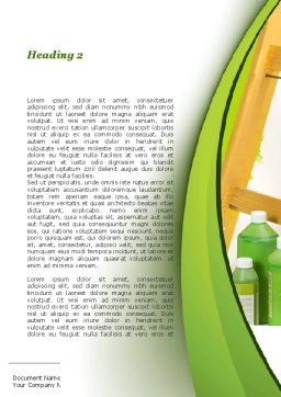 Green Paint Cun Word Template Second Inner Page