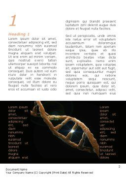 Defective Gene Word Template, First Inner Page, 09803, Medical — PoweredTemplate.com