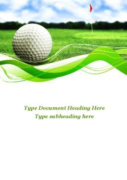 Ball For Golf Word Template, Cover Page, 09807, Sports — PoweredTemplate.com