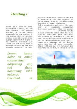 Ball For Golf Word Template, First Inner Page, 09807, Sports — PoweredTemplate.com