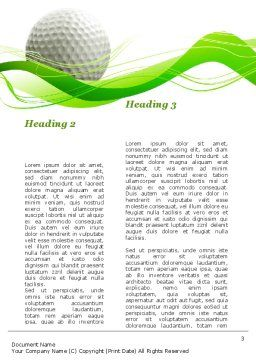 Ball For Golf Word Template, Second Inner Page, 09807, Sports — PoweredTemplate.com