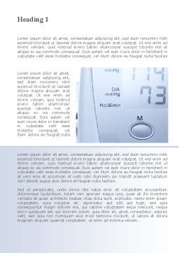 Device For Measuring Pressure Word Template, First Inner Page, 09808, Medical — PoweredTemplate.com